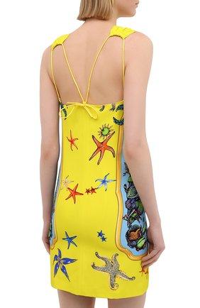 Женское платье из вискозы VERSACE разноцветного цвета, арт. A89134/1F00958   Фото 4
