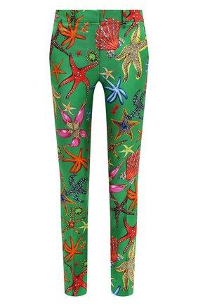 Женские шелковые брюки VERSACE зеленого цвета, арт. A89061/1F01126 | Фото 1