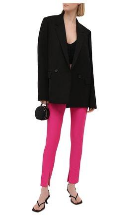 Женские шерстяные брюки VERSACE фуксия цвета, арт. A89061/1F01050 | Фото 2