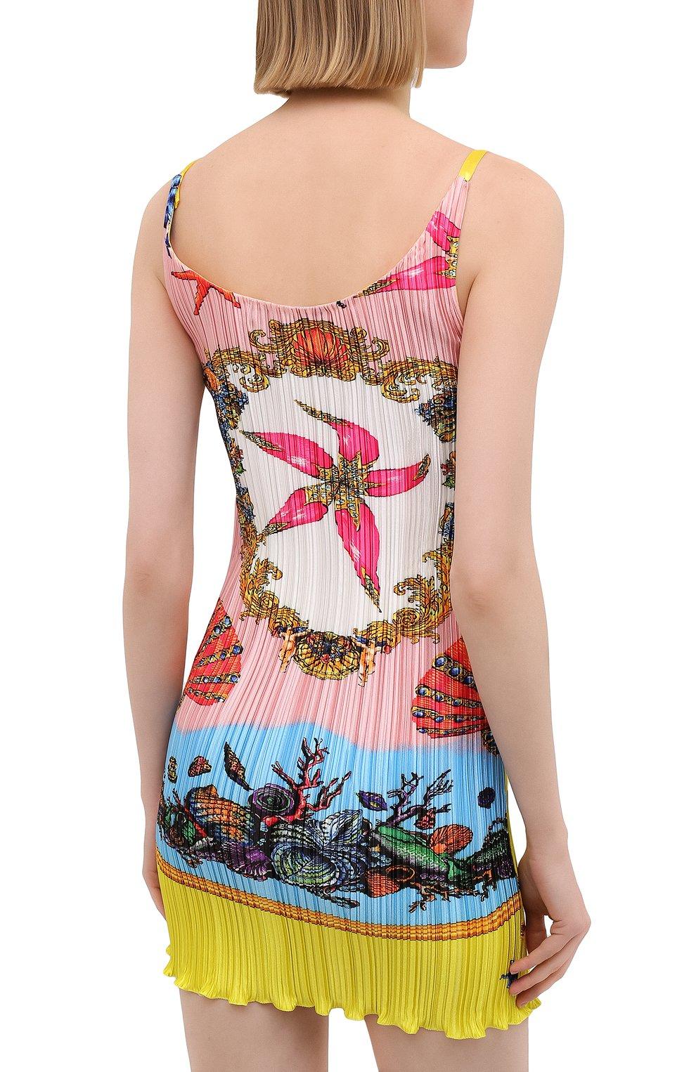 Женское платье VERSACE разноцветного цвета, арт. A89018/1F01267 | Фото 4