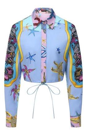 Женская хлопковая рубашка VERSACE разноцветного цвета, арт. A88966/1F00963 | Фото 1