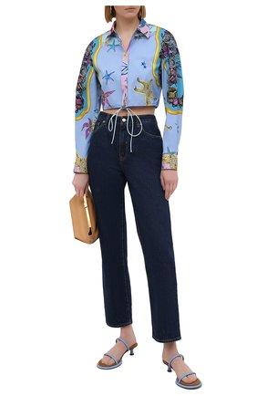 Женская хлопковая рубашка VERSACE разноцветного цвета, арт. A88966/1F00963 | Фото 2