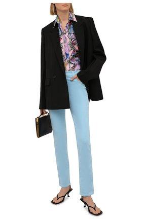 Женские джинсы VERSACE голубого цвета, арт. A86623/1F00813 | Фото 2