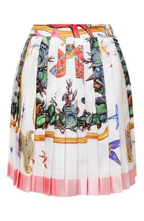 Женская шелковая юбка VERSACE разноцветного цвета, арт. A79448/1F01000 | Фото 1