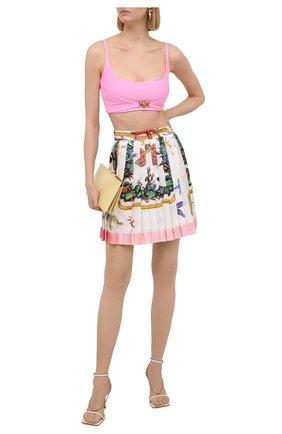 Женская шелковая юбка VERSACE разноцветного цвета, арт. A79448/1F01000 | Фото 2