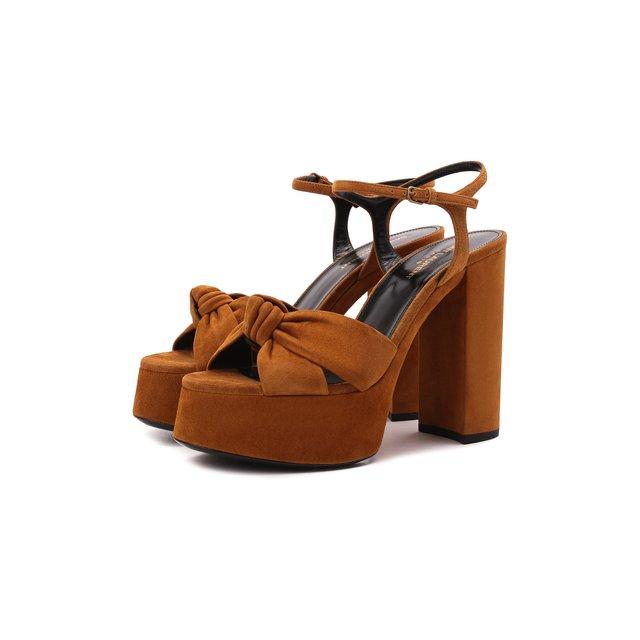 Замшевые босоножки Bianca Saint Laurent