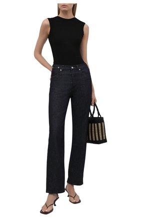 Женское боди AGOLDE черного цвета, арт. A7076-1260 | Фото 2