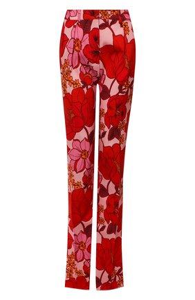 Женские брюки из вискозы TOM FORD красного цвета, арт. PAW401-FAP137 | Фото 1 (Материал внешний: Вискоза; Длина (брюки, джинсы): Удлиненные; Стили: Романтичный; Женское Кросс-КТ: Брюки-одежда; Силуэт Ж (брюки и джинсы): Расклешенные)