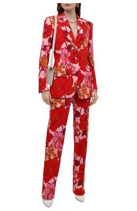 Женские брюки из вискозы TOM FORD красного цвета, арт. PAW401-FAP137 | Фото 2 (Материал внешний: Вискоза; Длина (брюки, джинсы): Удлиненные; Стили: Романтичный; Женское Кросс-КТ: Брюки-одежда; Силуэт Ж (брюки и джинсы): Расклешенные)