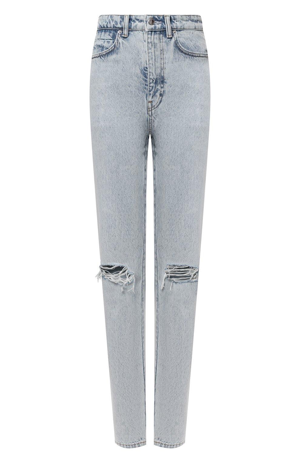 Женские джинсы DENIM X ALEXANDER WANG светло-голубого цвета, арт. 4DC2214341 | Фото 1
