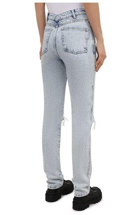 Женские джинсы DENIM X ALEXANDER WANG светло-голубого цвета, арт. 4DC2214341 | Фото 4
