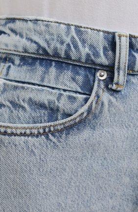 Женские джинсы DENIM X ALEXANDER WANG светло-голубого цвета, арт. 4DC2214341 | Фото 5