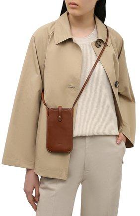 Кожаный чехол для iphone POLO RALPH LAUREN коричневого цвета, арт. 427835626 | Фото 2