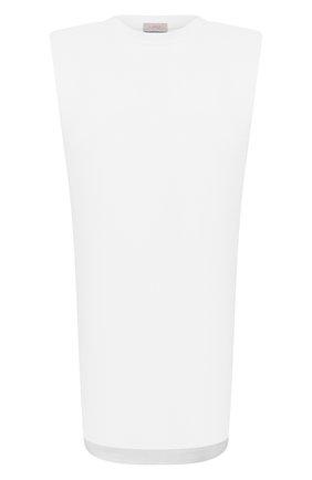 Женское хлопковое платье MRZ белого цвета, арт. S21-0011 | Фото 1