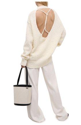 Женский хлопковый свитер MRZ светло-бежевого цвета, арт. S21-0115 | Фото 2