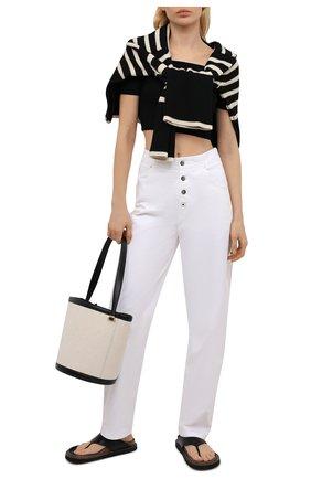 Женские хлопковые брюки MRZ белого цвета, арт. S21-0355 | Фото 2