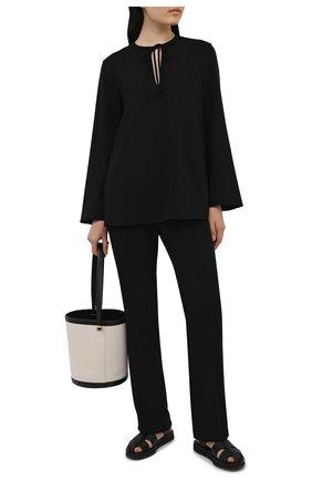 Женские брюки THEORY черного цвета, арт. L0109208 | Фото 2