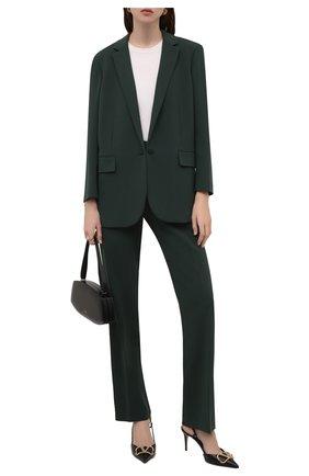 Женские брюки THEORY темно-зеленого цвета, арт. L0109208 | Фото 2