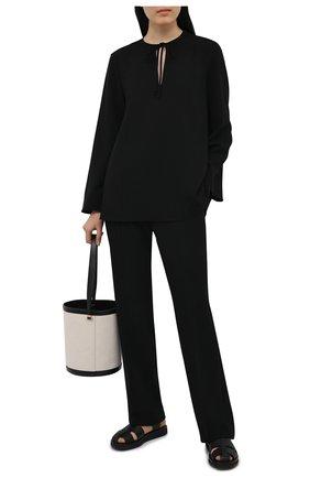 Женская блузка THEORY черного цвета, арт. L0109509 | Фото 2