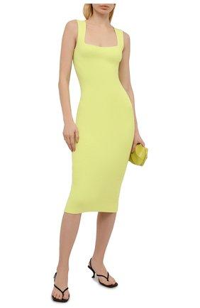 Женское платье из вискозы HELMUT LANG зеленого цвета, арт. L02HW708 | Фото 2