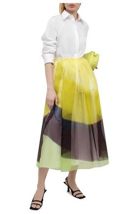 Женская шелковая юбка DRIES VAN NOTEN желтого цвета, арт. 211-10803-2086 | Фото 2