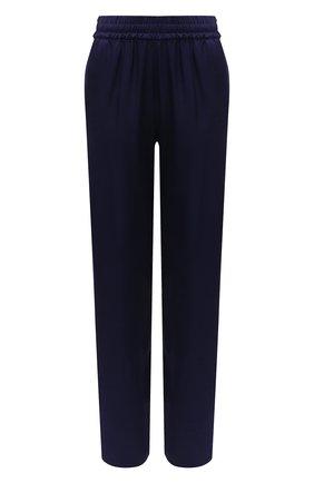 Женские брюки из вискозы DRIES VAN NOTEN темно-синего цвета, арт. 211-10904-2146 | Фото 1