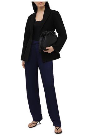 Женские брюки из вискозы DRIES VAN NOTEN темно-синего цвета, арт. 211-10904-2146 | Фото 2