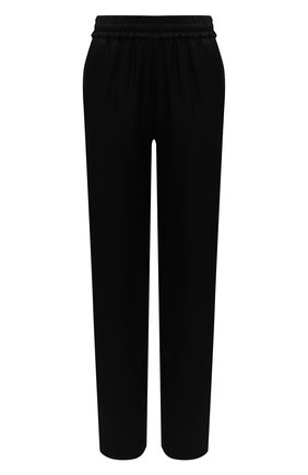 Женские брюки из вискозы DRIES VAN NOTEN черного цвета, арт. 211-10904-2146   Фото 1 (Стили: Кэжуэл; Женское Кросс-КТ: Брюки-одежда; Силуэт Ж (брюки и джинсы): Прямые; Материал внешний: Вискоза; Длина (брюки, джинсы): Стандартные)