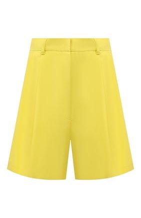 Женские хлопковые шорты DRIES VAN NOTEN желтого цвета, арт. 211-10927-2109 | Фото 1