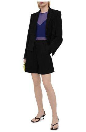 Женские хлопковые шорты DRIES VAN NOTEN черного цвета, арт. 211-10927-2109 | Фото 2