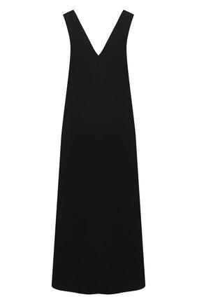 Женское хлопковое платье DRIES VAN NOTEN черного цвета, арт. 211-11044-2331   Фото 1 (Длина Ж (юбки, платья, шорты): Миди; Материал внешний: Хлопок, Растительное волокно; Стили: Кэжуэл; Случай: Повседневный; Материал подклада: Вискоза; Женское Кросс-КТ: Платье-одежда, Сарафаны)