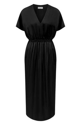 Женское платье из вискозы DRIES VAN NOTEN черного цвета, арт. 211-11088-2146   Фото 1