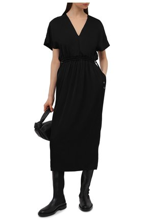 Женское платье из вискозы DRIES VAN NOTEN черного цвета, арт. 211-11088-2146   Фото 2
