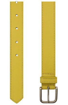 Женский кожаный ремень DRIES VAN NOTEN желтого цвета, арт. 211-11404-132 | Фото 2 (Материал: Кожа)