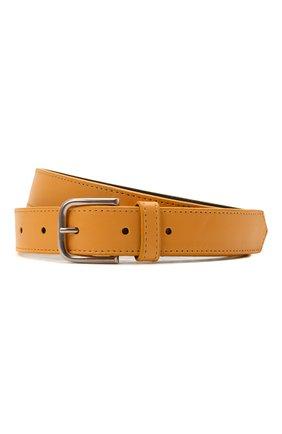 Женский кожаный ремень DRIES VAN NOTEN оранжевого цвета, арт. 211-11404-132   Фото 1 (Материал: Кожа)