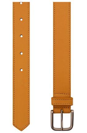 Женский кожаный ремень DRIES VAN NOTEN оранжевого цвета, арт. 211-11404-132   Фото 2 (Материал: Кожа)