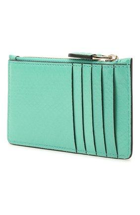 Женский кожаный футляр для кредитных карт RALPH LAUREN бирюзового цвета, арт. 434841256 | Фото 2