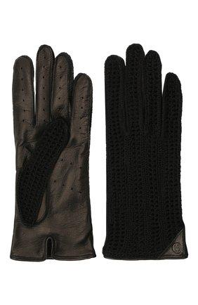 Женские перчатки GIORGIO ARMANI черного цвета, арт. 794216/1A202 | Фото 2
