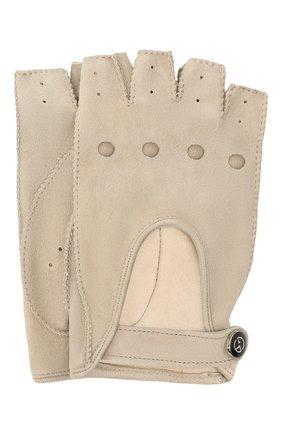 Женские замшевые перчатки GIORGIO ARMANI бежевого цвета, арт. 794215/1A201 | Фото 1