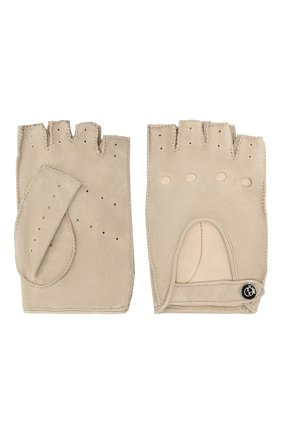Женские замшевые перчатки GIORGIO ARMANI бежевого цвета, арт. 794215/1A201 | Фото 2