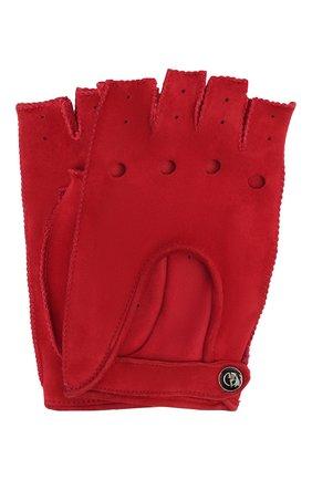 Женские замшевые перчатки GIORGIO ARMANI красного цвета, арт. 794215/1A201 | Фото 1