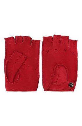 Женские замшевые перчатки GIORGIO ARMANI красного цвета, арт. 794215/1A201 | Фото 2
