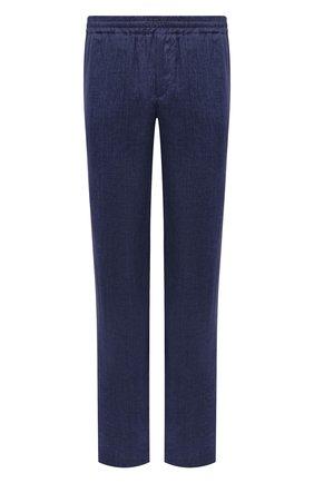 Мужские льняные брюки LORO PIANA темно-синего цвета, арт. FAL6961 | Фото 1