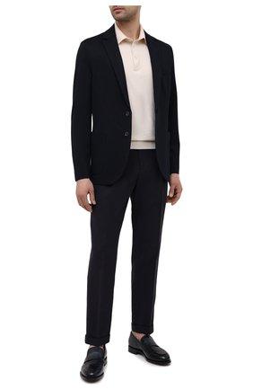 Мужские льняные брюки LORO PIANA темно-синего цвета, арт. FAL6167 | Фото 2