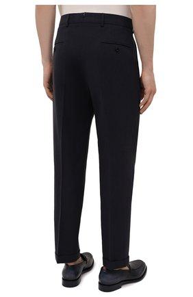 Мужские льняные брюки LORO PIANA темно-синего цвета, арт. FAL6167 | Фото 4 (Длина (брюки, джинсы): Стандартные; Случай: Повседневный; Материал внешний: Лен; Стили: Кэжуэл)