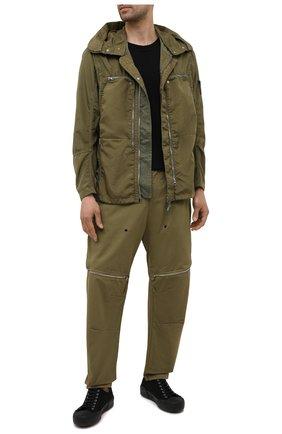 Мужские брюки STONE ISLAND SHADOW PROJECT хаки цвета, арт. 741930308   Фото 2