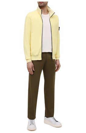 Мужской хлопковый кардиган STONE ISLAND желтого цвета, арт. 7415525B0   Фото 2