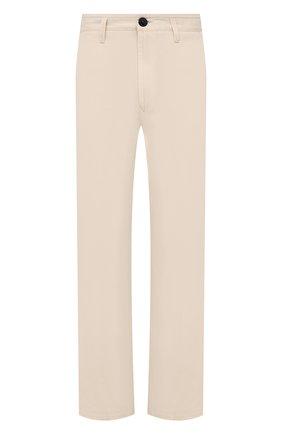 Мужские хлопковые брюки STONE ISLAND бежевого цвета, арт. 741531506 | Фото 1