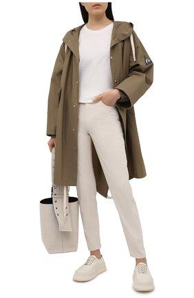 Женские джинсы JIL SANDER светло-бежевого цвета, арт. JPPS663101-WS246500 | Фото 2