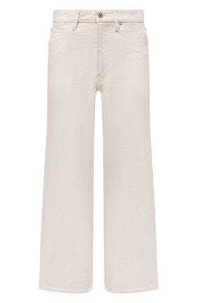 Женские джинсы JIL SANDER светло-бежевого цвета, арт. JPPS663135-WS246500 | Фото 1 (Кросс-КТ: Деним; Длина (брюки, джинсы): Укороченные; Силуэт Ж (брюки и джинсы): Расклешенные; Стили: Кэжуэл; Материал внешний: Хлопок)